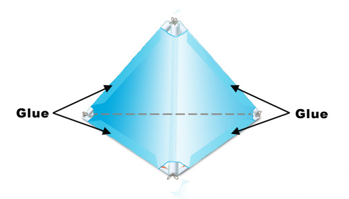 Tetrahedral kites for Tetrahedron kite template